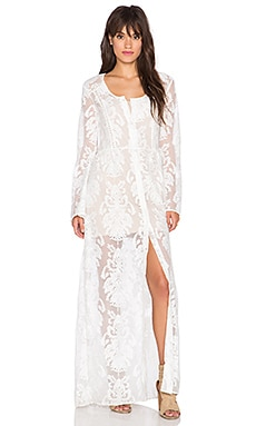 Crime of Passion Maxi Dress in Off White