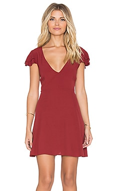MINKPINK The Little Things Mini Dress in Wine