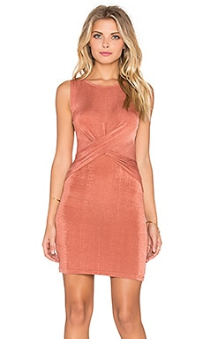 Forbidden Love Twist Front Mini Dress in Dusty Rose