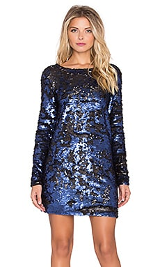 MINKPINK Great Escape Low Back Sequin Dress in Blue
