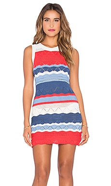 Future Divide Rib Dress in Multi