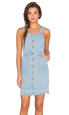 Unstoppable Pinnie Dress in Denim