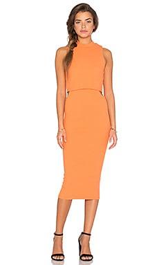 MINKPINK Urban Memories Cut Out Dress in  Blush Orange