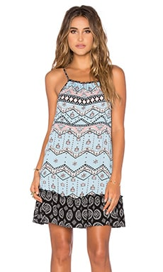 Western Wonder Mini Dress in Blue & Multi