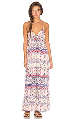 Western Wonder Maxi Dress en Crème & Multicolore
