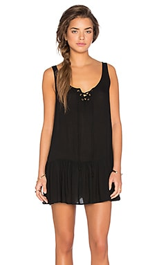 Island Bliss Lace Front Dress in Black
