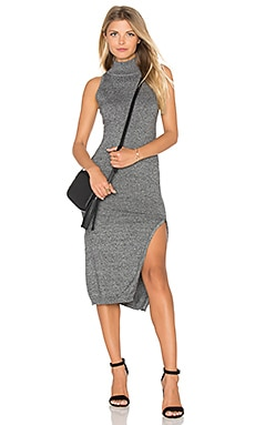 Temptation Dress en Gris Chiné