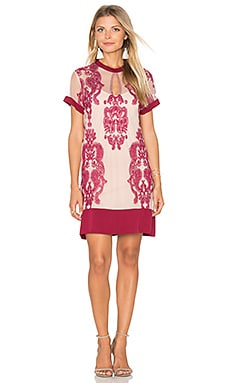MINKPINK Sweetest Sound Dress in Wine & Blush
