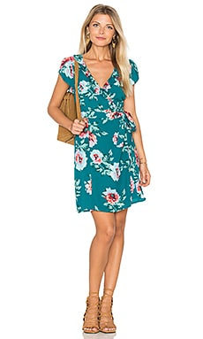 Pretty Primrose Wrap Dress en Imprimé