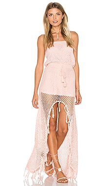 MINKPINK Woven Together Dress in Shell Pink