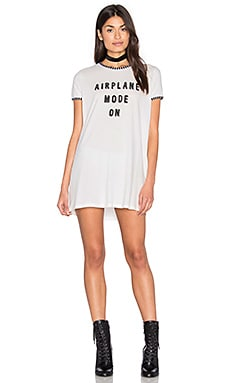 MINKPINK Sleep Shirt Dress in White & Black