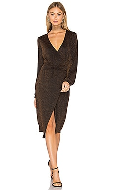 Hustle Metallic Knot Dress in Bronze