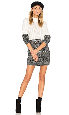 Two Faced Mixed Knit Dress in Multi