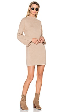 Ripple Stitch Dress in Beige