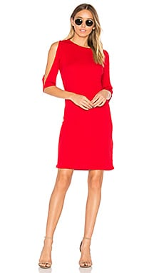 Cold Should Rib Dress in Red
