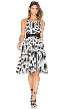 Riviera Getaway Dress in Black & White