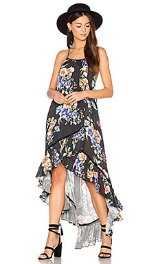 Hidden Wonder Halter Dress in Black Floral