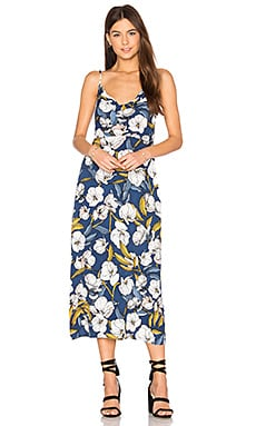 Pacifico Midi Slip Dress en Imprimé