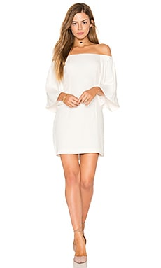 Uptown Off Shoulder Dress in Grauweiß