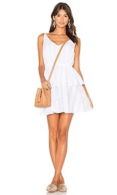 Dreamer Dress in White & Blue