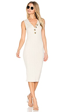 Desert Rib Midi Dress in Cream