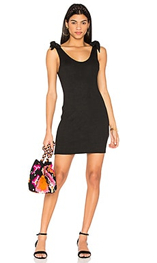 Tongue Tied Tie Shoulder Dress in Black