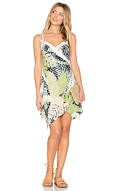Aloha Cross Over Dress in Multi