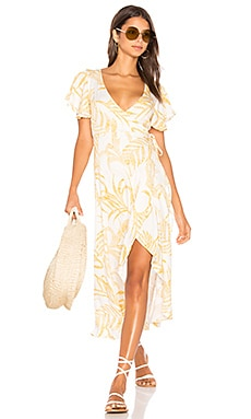 Paradise Waterfall Wrap Dress