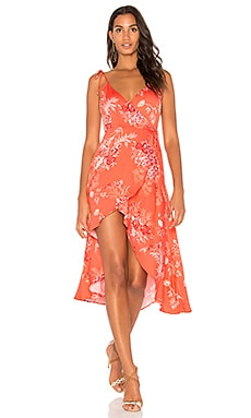 Hotsprings Waterfall Wrap Dress