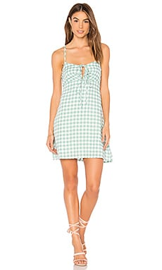 Sage Gingham Dress MINKPINK $55