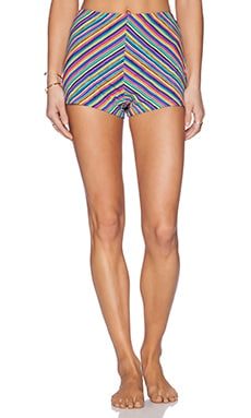 MINKPINK Herringbone Stripe Shorts in Multi