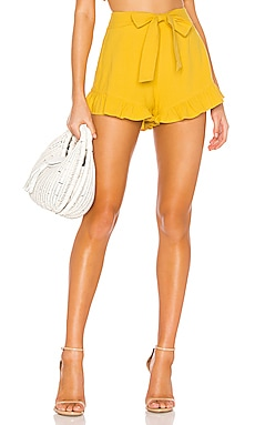 Camille Tie Front Frill Short MINKPINK $69