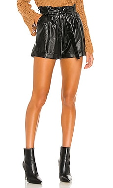 Vegan Leather Realist Shorts MINKPINK $89