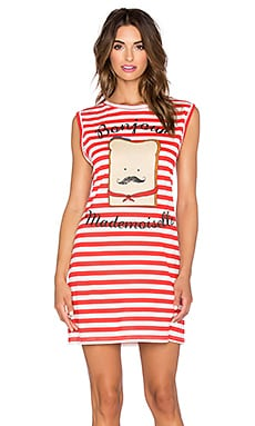 MINKPINK French Toastie Nightie in White & Red
