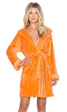 MINKPINK Tangerine Daydream Robe in Neon Coral