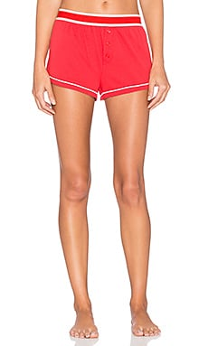 MINKPINK Miso Sleepy Shorts in Red & White