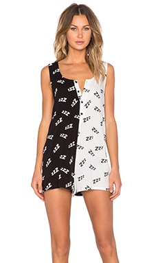 MINKPINK 101 Sleeps Playsuit in Black & White