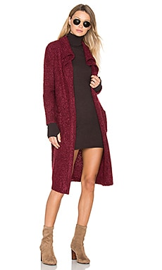 Looped Out Waterfall Cardigan in Wine Marle