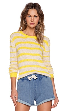 MINKPINK Almost Peaceful Sweater in Citrus & White