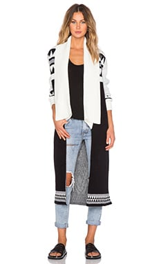 MINKPINK Disturbia Maxi Cardigan in Multi