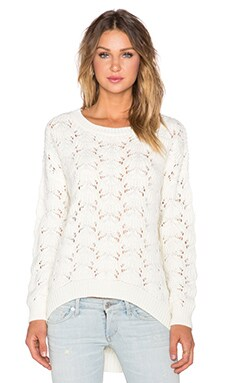 MINKPINK Paper Planes Sweater in Cream