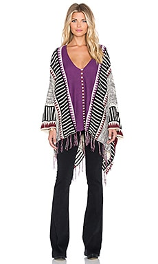 MINKPINK Tribe Wars Poncho in Multi