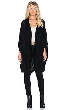 MINKPINK Do You Remember Poncho in Black