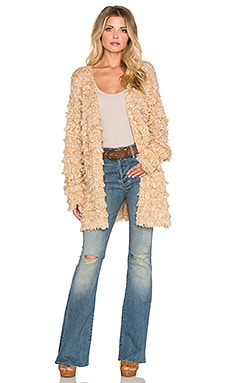MINKPINK Sandstrom Loop Cardigan in Tan