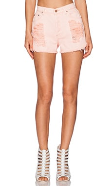 MINKPINK Almost Famous Slasher Short in Blush Pink