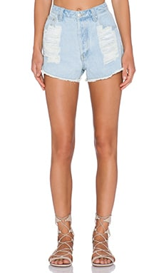 MINKPINK Break Free Slasher Short in Denim
