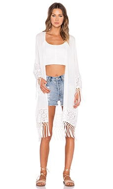 MINKPINK Believer Of Mermaids Kimono in White