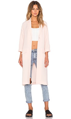 MINKPINK Politley Pink Duster Jacket in Pale Blush