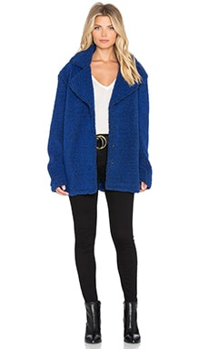 MINKPINK Sweet Escape Coat in Midnight Blue
