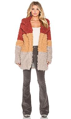 MINKPINK Free Spirit Faux Fur Coat in Multi